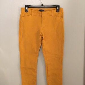 Slim City Crop Pants, mustard